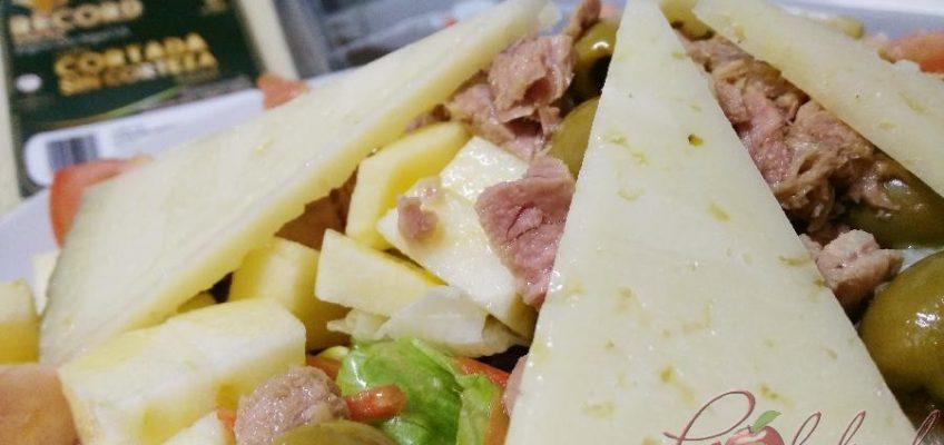 Ensalada con queso manchego 01 pazladeando