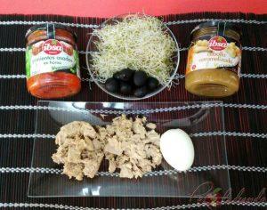 Ensalada pimientos asados y cebolla caramelizada Ingredientes