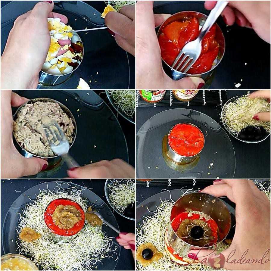 Ensalada pimientos asados y cebolla caramelizada Paso a paso