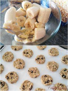 Galletas de avena y plátano pasos