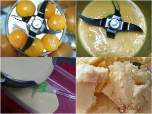 Helado de aceite de oliva virgen extra pasos