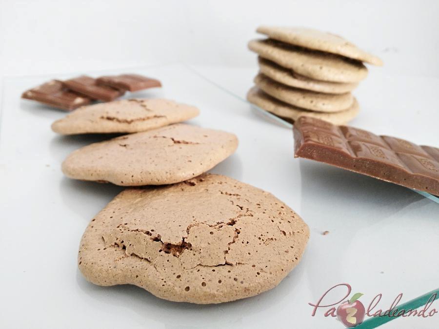 galletas de merengue japonés con chocolate puro y coco 02 pazladeando