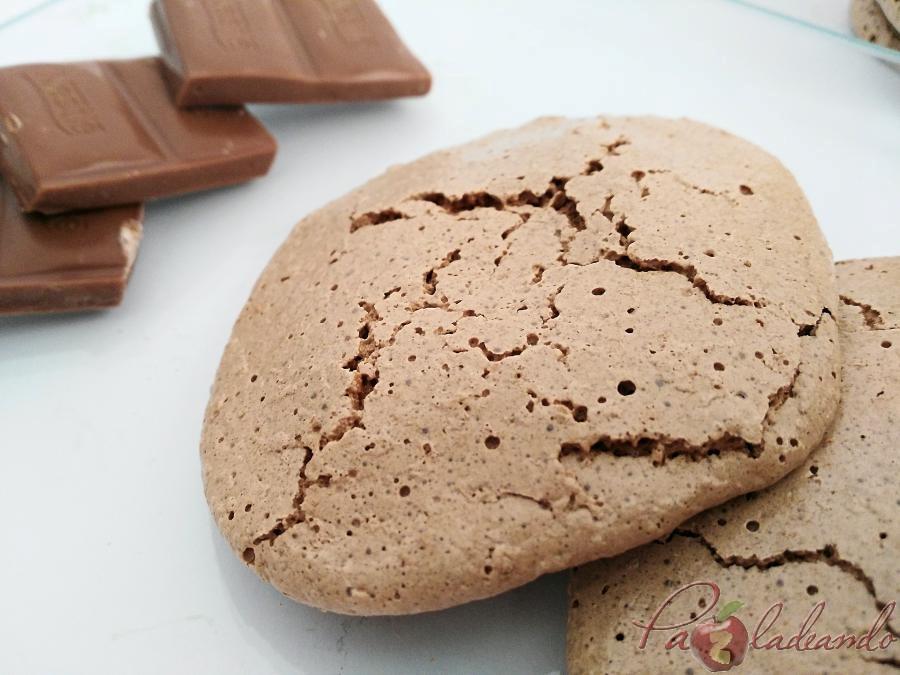 galletas de merengue japonés con chocolate puro y coco 04 pazladeando