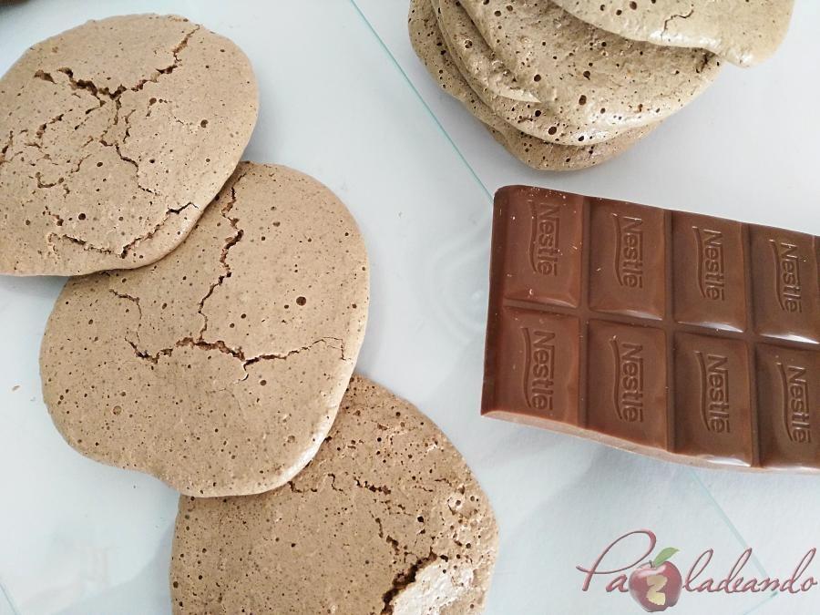 galletas de merengue japonés con chocolate puro y coco 06 pazladeando