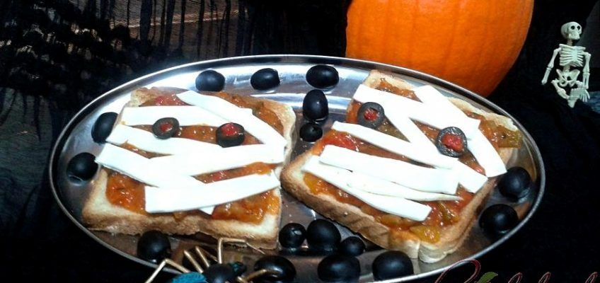 Tostas momia halloween pazladeando 3