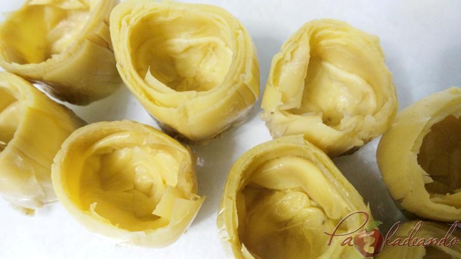 fondos de alcachofa rellenos de queso curado PASO A PASO (2)