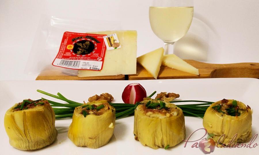 fondos de alcachofa rellenos de queso curado pazladeando (1)