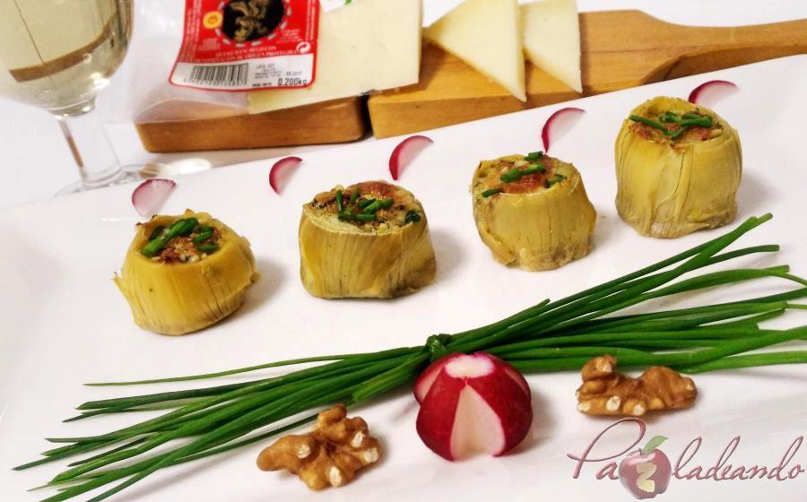 fondos de alcachofa rellenos de queso curado pazladeando (2)