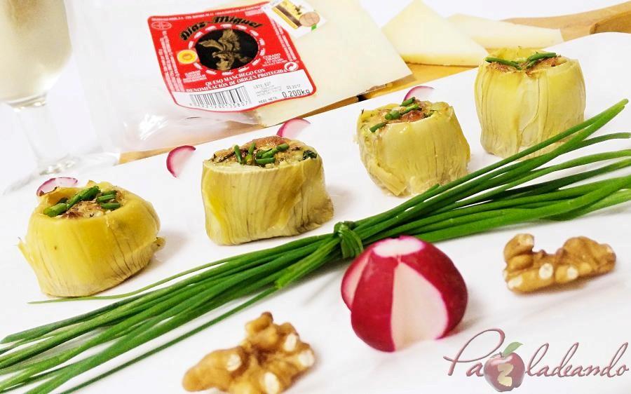 fondos de alcachofa rellenos de queso curado pazladeando (7)