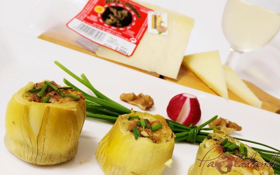 fondos de alcachofa rellenos de queso curado pazladeando (8)