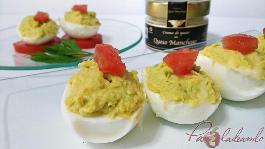 huevos rellenos de crema de queso manchego y aguacate pazladeando 02