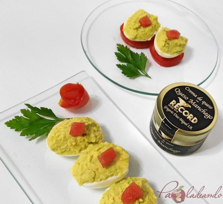 huevos rellenos de crema de queso manchego y aguacate pazladeando 03