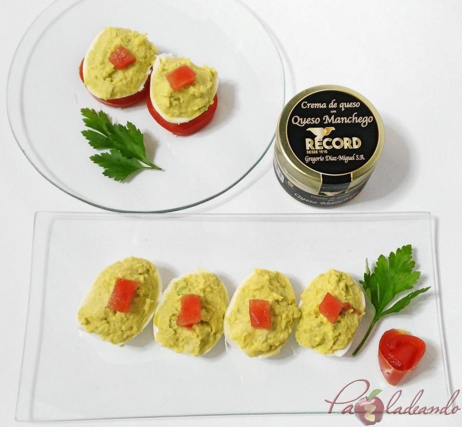 huevos rellenos de crema de queso manchego y aguacate pazladeando 04