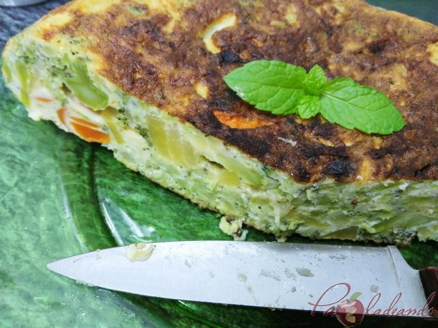 tortilla de patata y brócoli pazladeando 4