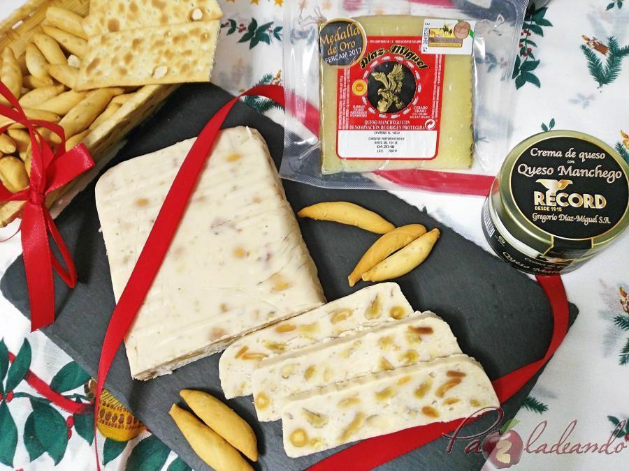 Turrón de queso manchego Thermomix PaZladeando