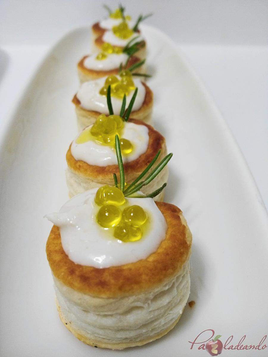 mini volovanes de tomate trufado con brandada de bacalao y caviar de aove pazladeando (8)
