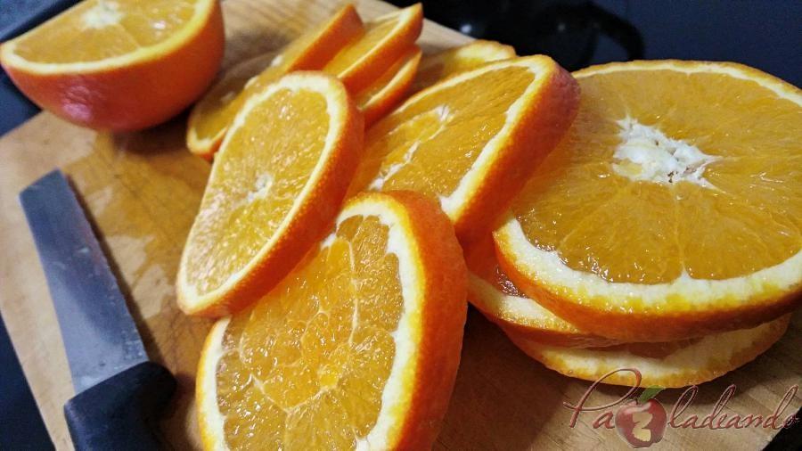 Naranjas confitadas pasos 1