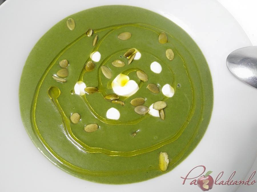 Crema de espinacas pazladeando (8)