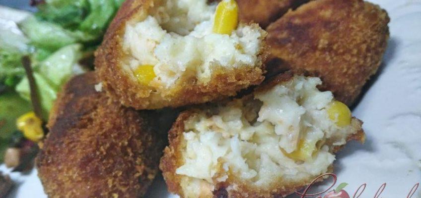 croquetas de salmón y maiz pazladeando.. (1)