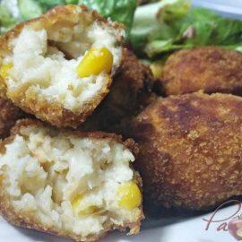 croquetas de salmón y maiz pazladeando 1