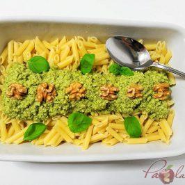 Macarrones con pesto de queso manchego, albahaca y nueces Pazladeando (4)