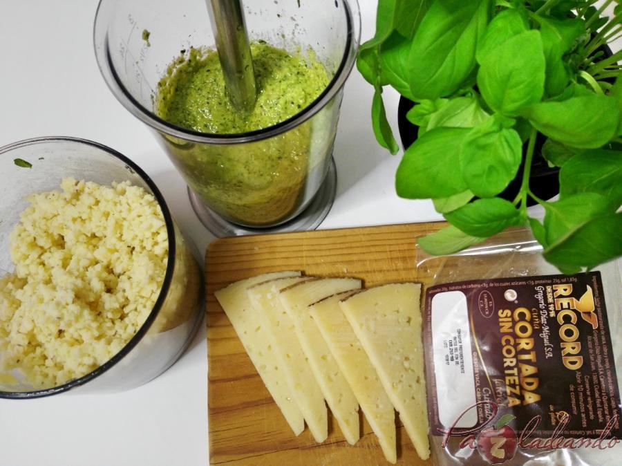 Paso a paso Macarrones con pesto de queso manchego, albahaca y nueces (8)