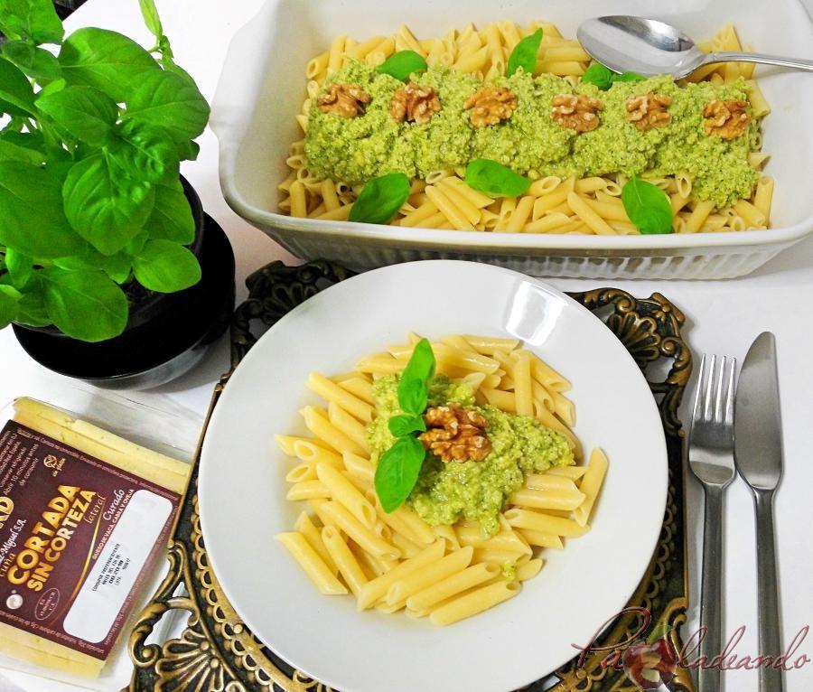 Record Macarrones con pesto de queso manchego, albahaca y nueces Pazladeando (2)