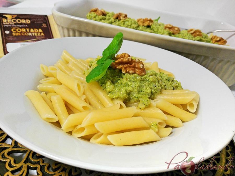 Record Macarrones con pesto de queso manchego, albahaca y nueces Pazladeando (3)
