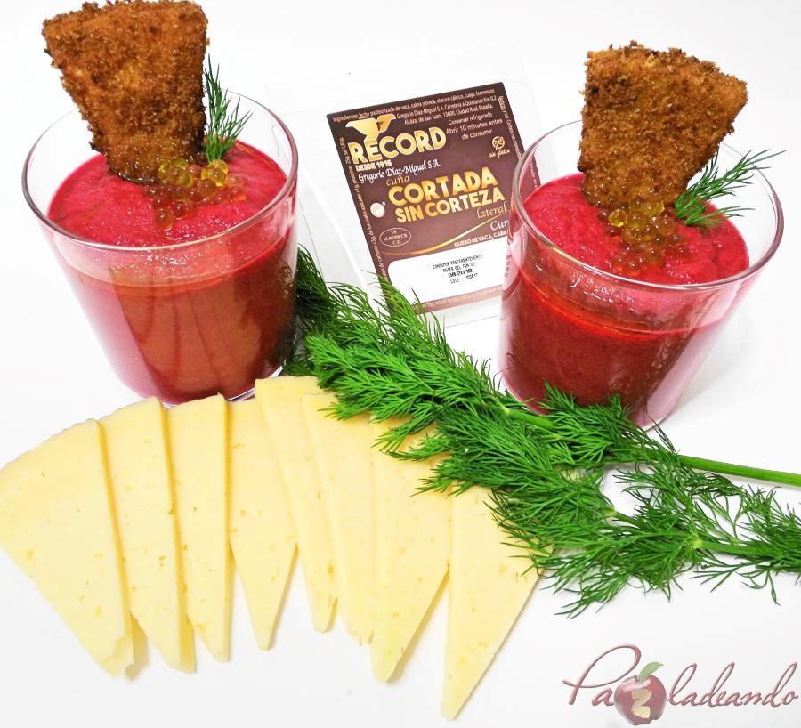 Record Samorejo de remolacha con queso manchego frito (3)