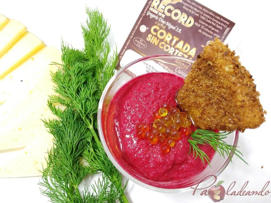 Record Samorejo de remolacha con queso manchego frito (4)