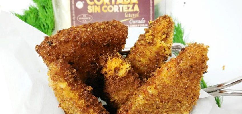 Triángulos de queso curado frito Pazladeando (1)