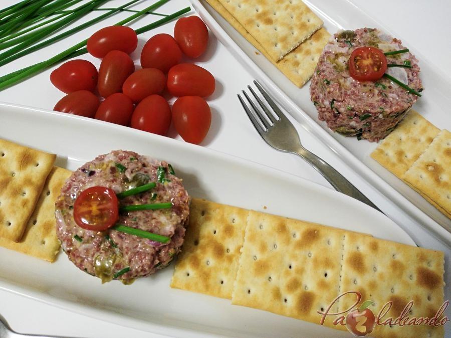 Tartar de salchichon Pazladeando 3