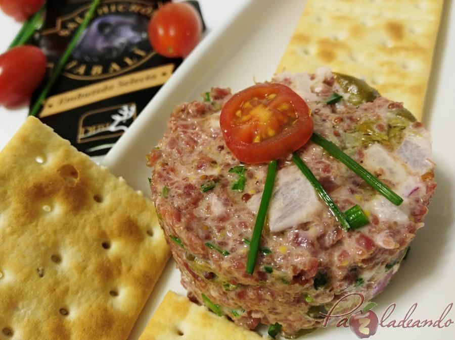 Tartar de salchichon Pazladeando 4