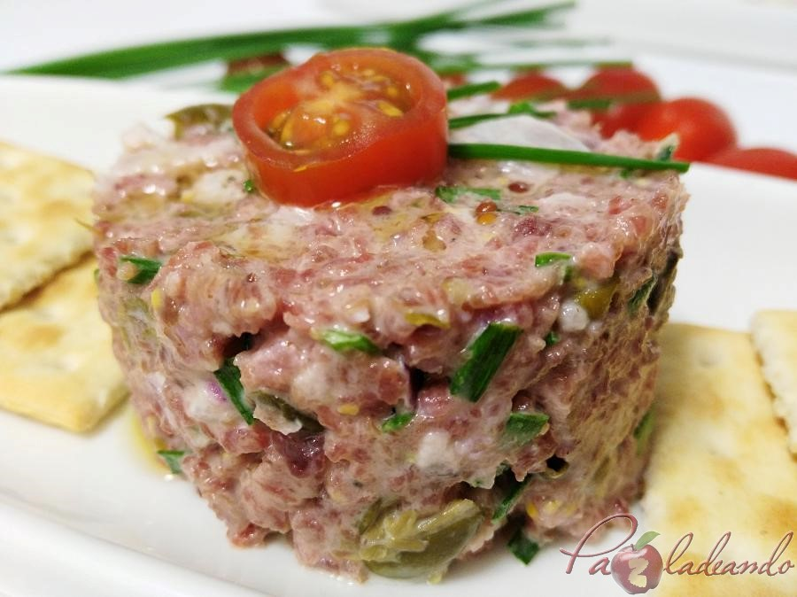 Tartar de salchichon Pazladeando 6