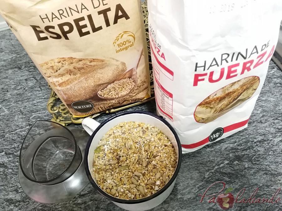 ingredientes Panecillos de espelta integral con semillas