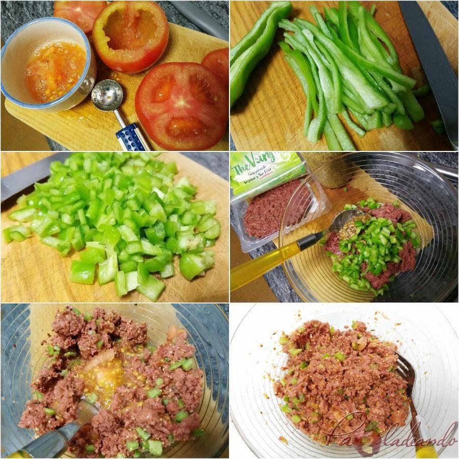 pasos tomates rellenos vegetarianos