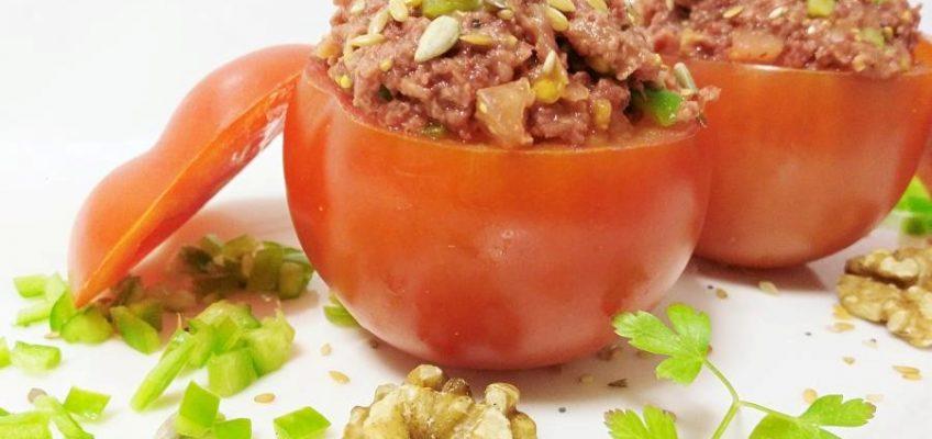 tomates rellenos vegetarianos Pazladeando