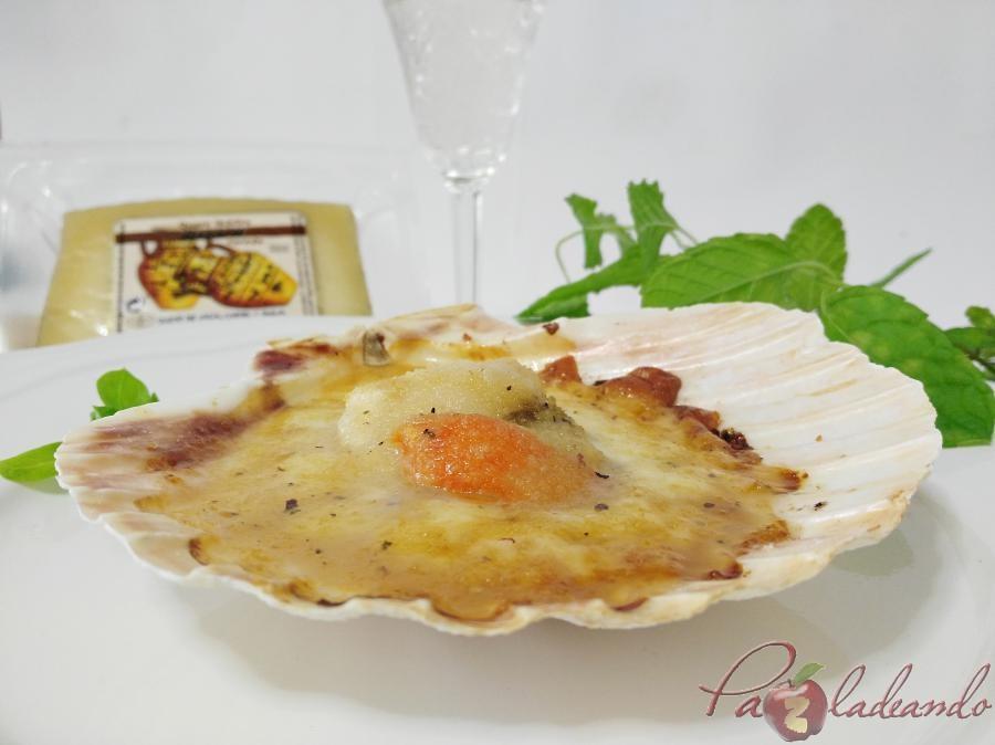 Vieiras con queso manchego y gelée de limóm, aove y trufa PaZladeando (3)
