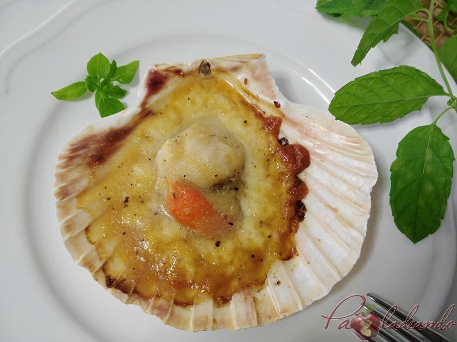 Vieiras con queso manchego y gelée de limóm, aove y trufa PaZladeando (4)