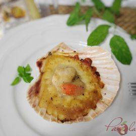 Vieiras con queso manchego y gelée de limóm, aove y trufa PaZladeando (5)