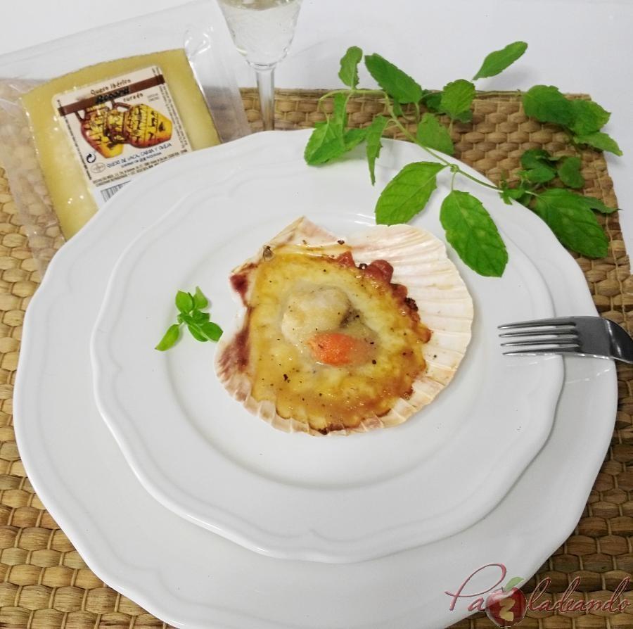 Vieiras con queso manchego y gelée de limóm, aove y trufa PaZladeando (6)