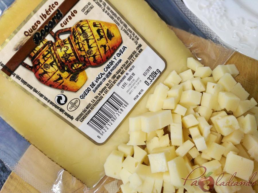 Vieiras con queso manchego y gelée de limóm, aove y trufa paso (2)