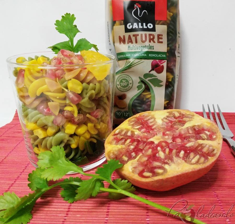 Ensalada antioxidante de pasta multi vegetales con fruta PaZladeando (2)