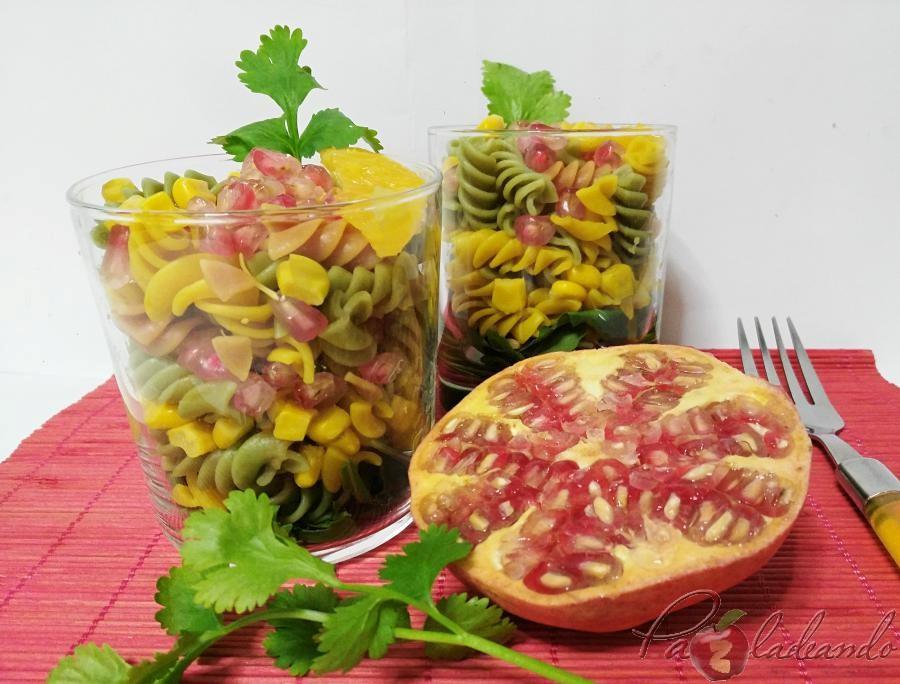 Ensalada antioxidante de pasta multi vegetales con fruta PaZladeando (3)