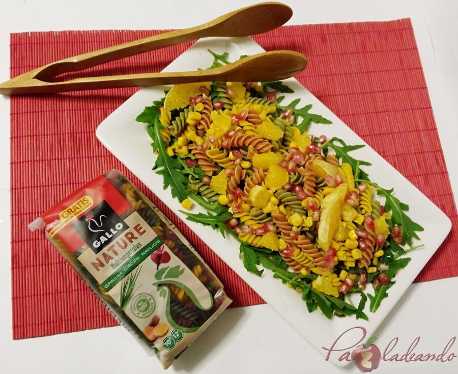 Ensalada antioxidante de pasta multi vegetales con fruta PaZladeando (5)