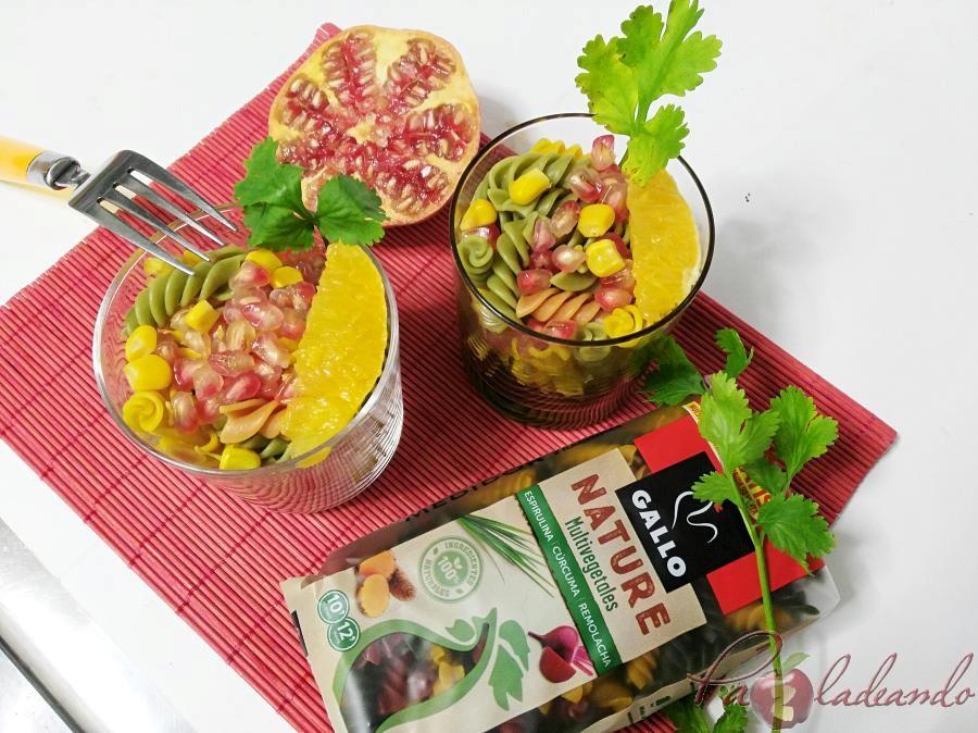 Ensalada antioxidante de pasta multi vegetales con fruta PaZladeando (6)