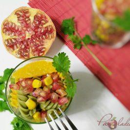 Ensalada antioxidante de pasta multi vegetales con fruta PaZladeando (7)