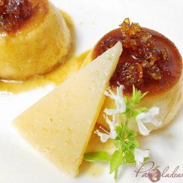 Flan de queso curado Pazladeando