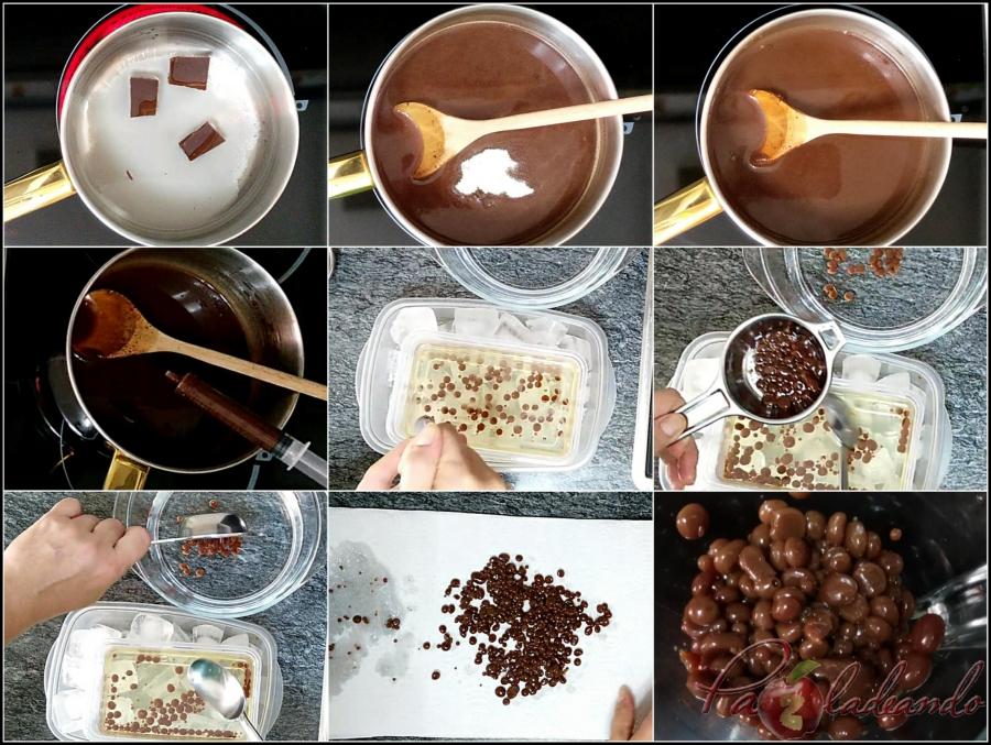 5. Paso a paso caviar de chocolate