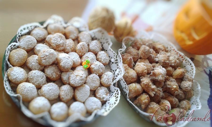Buñuelos de hojaldre con nata